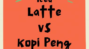 Iced Latte vs Kopi Peng