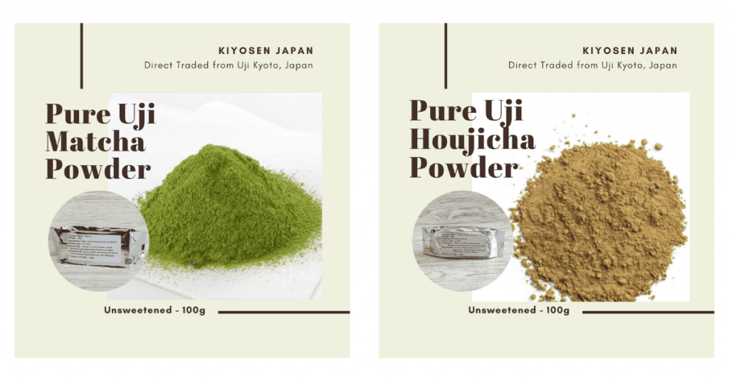 pure uji matcha and hojicha powder malaysia